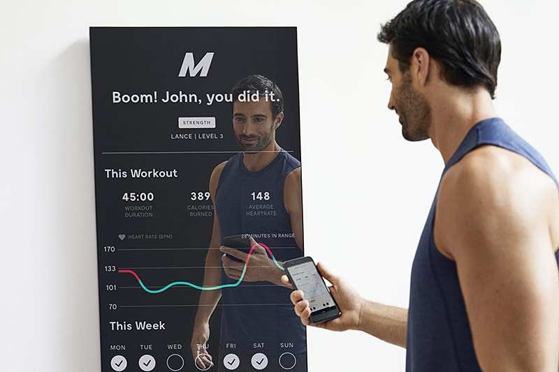 The nearly invisible interactive home gym mirror